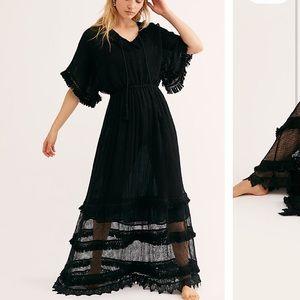 Free People La Fier Lace Maxi Dress